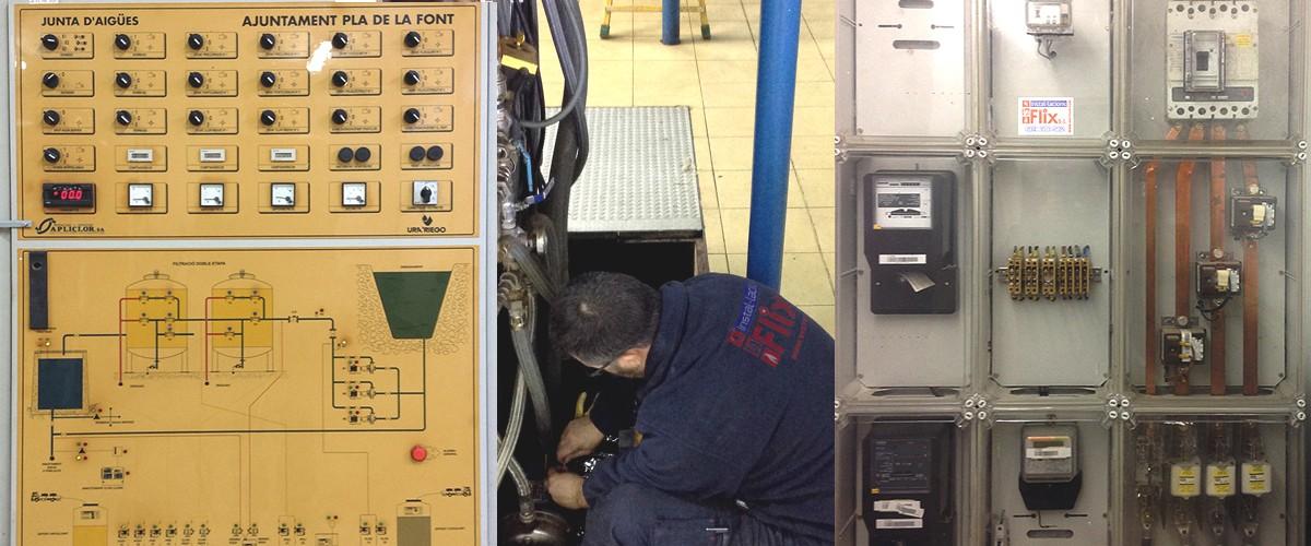 panel electric instal·lacions flix